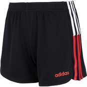 adidas Girls Clashing Stripe Shorts