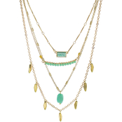 Panacea Faux Druzy 4 Row Necklace