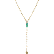 Panacea Faux Druzy 16 in. Y Necklace