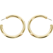 Panacea Goldtone Tube Hoop Earrings