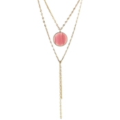 Panacea Round Cats Eye Y Necklace