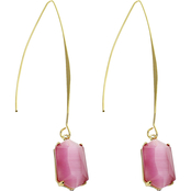 Panacea Cats Eye Threader Earrings
