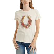 Lucky Brand Floral Horseshoe Tee