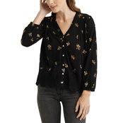 Lucky Brand Button Down Peasant Top