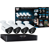 Night Owl 1080p HD Wired Security System 8 Channel DVR, 4 Cameras, 1TB Hard Drive
