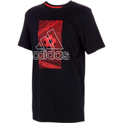 adidas Boys Badge of Sport Court Tee