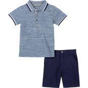 Calvin Klein Toddler Boys 2 pc. Polo and Shorts Set