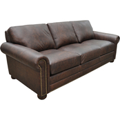 Omnia Italian Athens Top Grain Leather Sofa