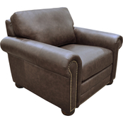 Omnia Italian Athens Top Grain Leather Chair