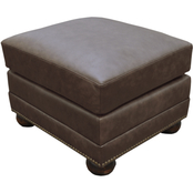 Omnia Italian Athens Top Grain Leather Ottoman