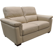 Omnia Italian Caprianna Top Grain Leather Loveseat