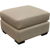 Omnia Italian Caprianna Top Grain Leather Ottoman