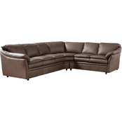 Omnia Italian Uptown Top Grain Leather Sectional