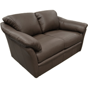 Omnia Italian Salerno Top Grain Leather Loveseat