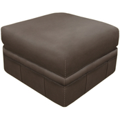 Omnia Italian Salerno Top Grain Leather Ottoman