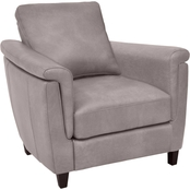 Omnia Italian Ellis Top Grain Leather Chair