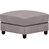Omnia Italian Ellis Top Grain Leather Ottoman