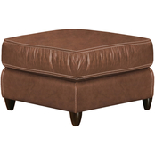 Omnia Italian Great Texas Top Grain Leather Ottoman