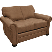 Omnia Italian Georgia Top Grain Leather Loveseat