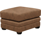 Omnia Italian Georgia Top Grain Leather Ottoman