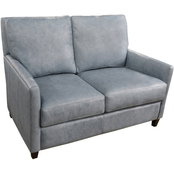Omnia Italian Quincy Top Grain Leather Loveseat