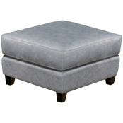 Omnia Italian Quincy Top Grain Leather Ottoman