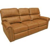 Omnia Italian Connor BC Top Grain Leather Reclining Sofa