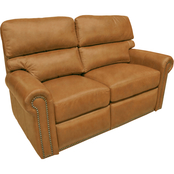 Omnia Italian Connor BC Top Grain Leather Reclining Loveseat