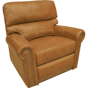 Omnia Italian Connor BC Top Grain Leather Recliner
