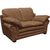 Omnia Italian Arlington Top Grain Leather Loveseat