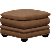 Omnia Italian Arlington Top Grain Leather Ottoman