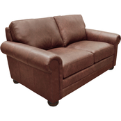 Omnia Italian Alpharetta Top Grain Leather Loveseat