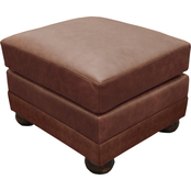 Omnia Italian Alpharetta Top Grain Leather Ottoman