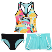 Zeroxposur Girls Well Spotted 3 pc. Swimsuit Set