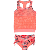 Zeroxposur Girls Haven On Earth Crochet Tankini 2 pc. Set