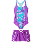 ZeroXposur Girls Rainforest Riot 2 pc. Swim Set