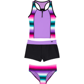 Zeroxposur Girls Over The Border Tankini 3 pc. Set