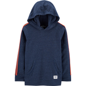 OshKosh B'gosh Boys Hooded Athletic Pullover Top Size 8