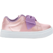 Oomphies Toddler Girls Lily Bow Slip On Shoes
