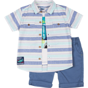 Little Lads Toddler Boys Striped Cali Shorts 3 pc. Set