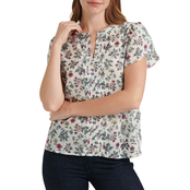 Lucky Brand Tulip Sleeve Top with Pintucks