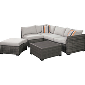 Signature Design by Ashley Cherry Point 4 pc. Outdoor Sectional with Coffee Table