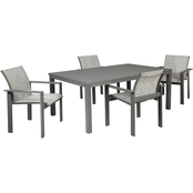 Signature Design by Ashley Okada 5 pc. Set with Table and 4 Sling Chairs