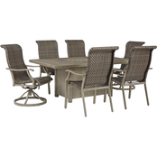 Signature Design by Ashley Windon Barn Outdoor 7 pc. Set with Swivel Chairs