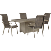 Signature Design by Ashley Windon Barn Outdoor 5 pc. Set with Arm Chairs