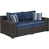 Signature Design by Ashley Grasson Lane Outdoor Loveseat with Cushions