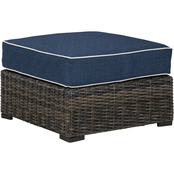 Signature Design by Ashley Grasson Lane Outdoor Ottoman with Cushion