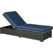 Signature Design by Ashley Grasson Lane Outdoor Chaise Lounge with Cushions