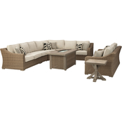 Signature Design by Ashley Beachcroft 6 pc. Outdoor Sectional