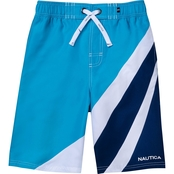 Nautica boys makoa blue swim trunk